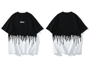Acc Contrast Drip Cotton T-Shirt - Clout Collection High Fashion Streetwear Men's and Women's