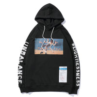 Societal Imbalance Drawstring Cotton Hoodie - Clout Collection High Fashion Streetwear Men's and Women's