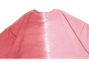 Two Tone Cotton T-Shirt in Salmon - Clout Collection High Fashion Streetwear Men's and Women's