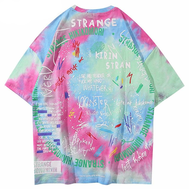 Strangekin Lonely Tee in Summer Tie-Dye - Clout Collection High Fashion Streetwear Men's and Women's