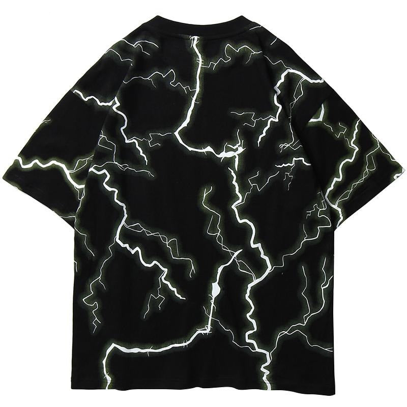 Unusual Original Lightning T-Shirt with 3M Reflectivity - Clout Collection High Fashion Streetwear Men's and Women's