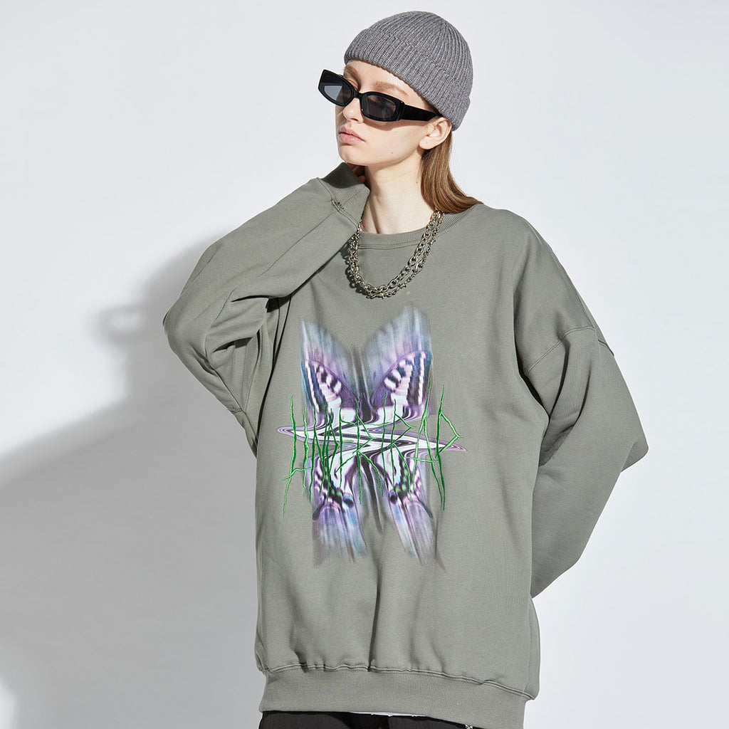 Cosmic Vibration Long Sleeve Fleece Sweater