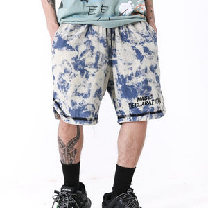 Magic Declaration Tie-Dye Sweat Shorts - Clout Collection High Fashion Streetwear Men's and Women's