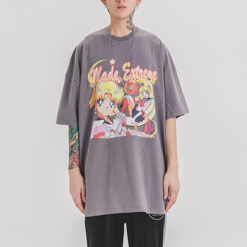Extreme Aesthetic Sailor Moon Cotton T-Shirt - Clout Collection High Fashion Streetwear Men's and Women's