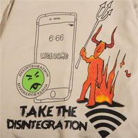 Disintegration 6:66 Hoodie in Beige or White - Clout Collection High Fashion Streetwear Men's and Women's