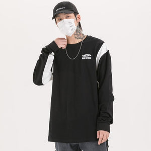 Extreme Aesthetic Edge Long Sleeve Cotton T-Shirt - Clout Collection High Fashion Streetwear Men's and Women's