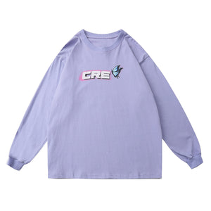 CRE Butterfly Print Long Sleeve Tee