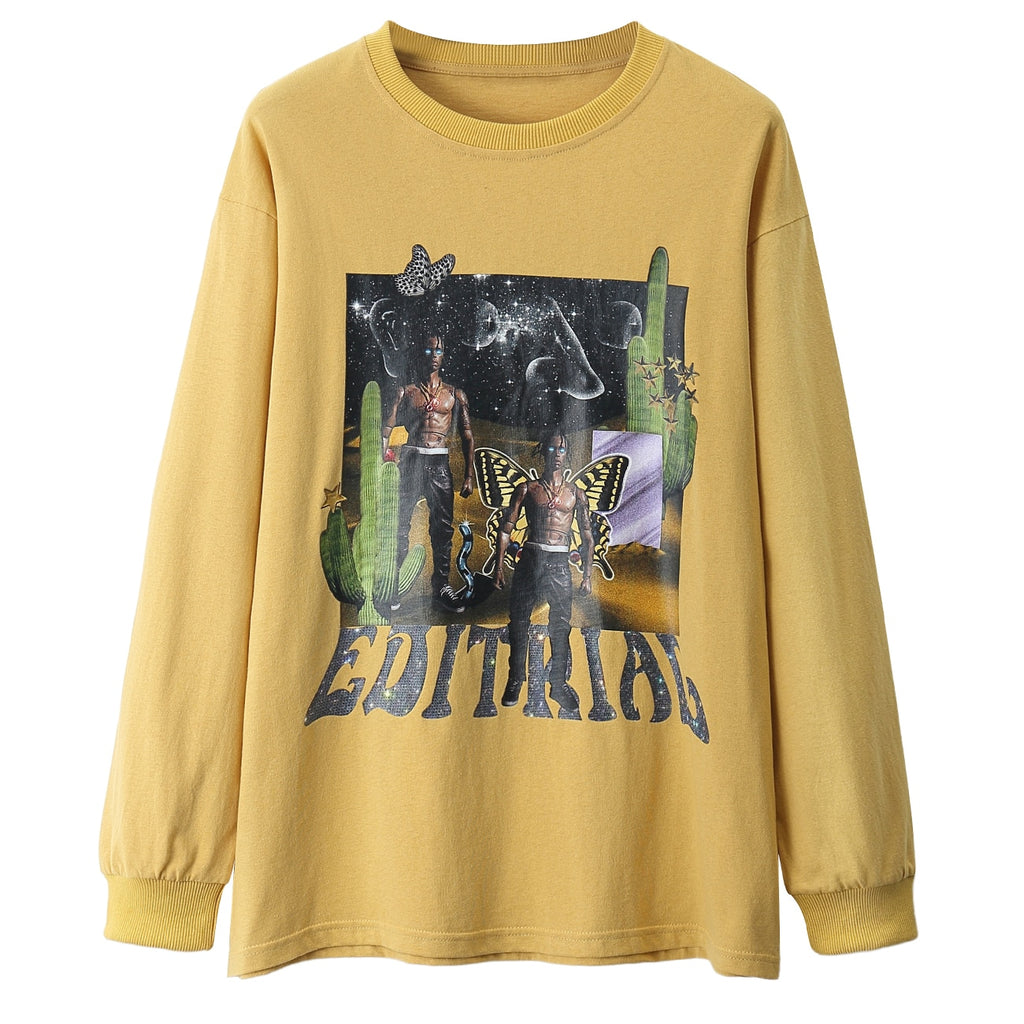 Travis Scott Cosmic Warrior Long Sleeve Tee
