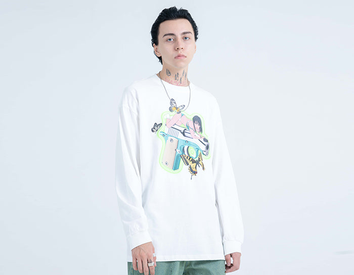 Editor Pistol Beauty Long Sleeve Tee