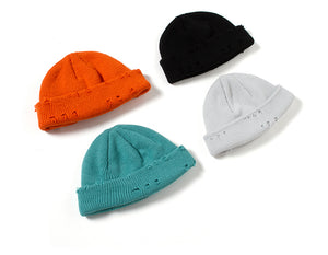 Blaze Orange Beanie with Slight Distress