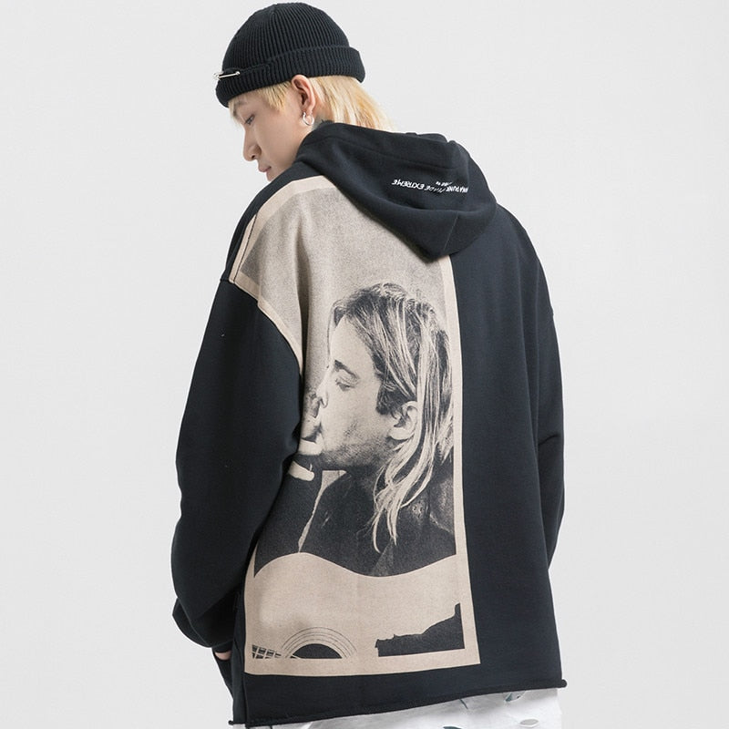 Extreme Aesthetic Kurt Cobain Tribute Cotton Hoodie