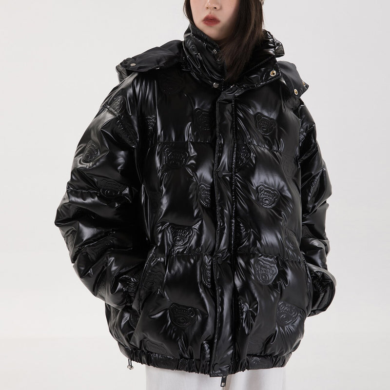 Extreme Aesthetic Stamped Down Puffer Jacket