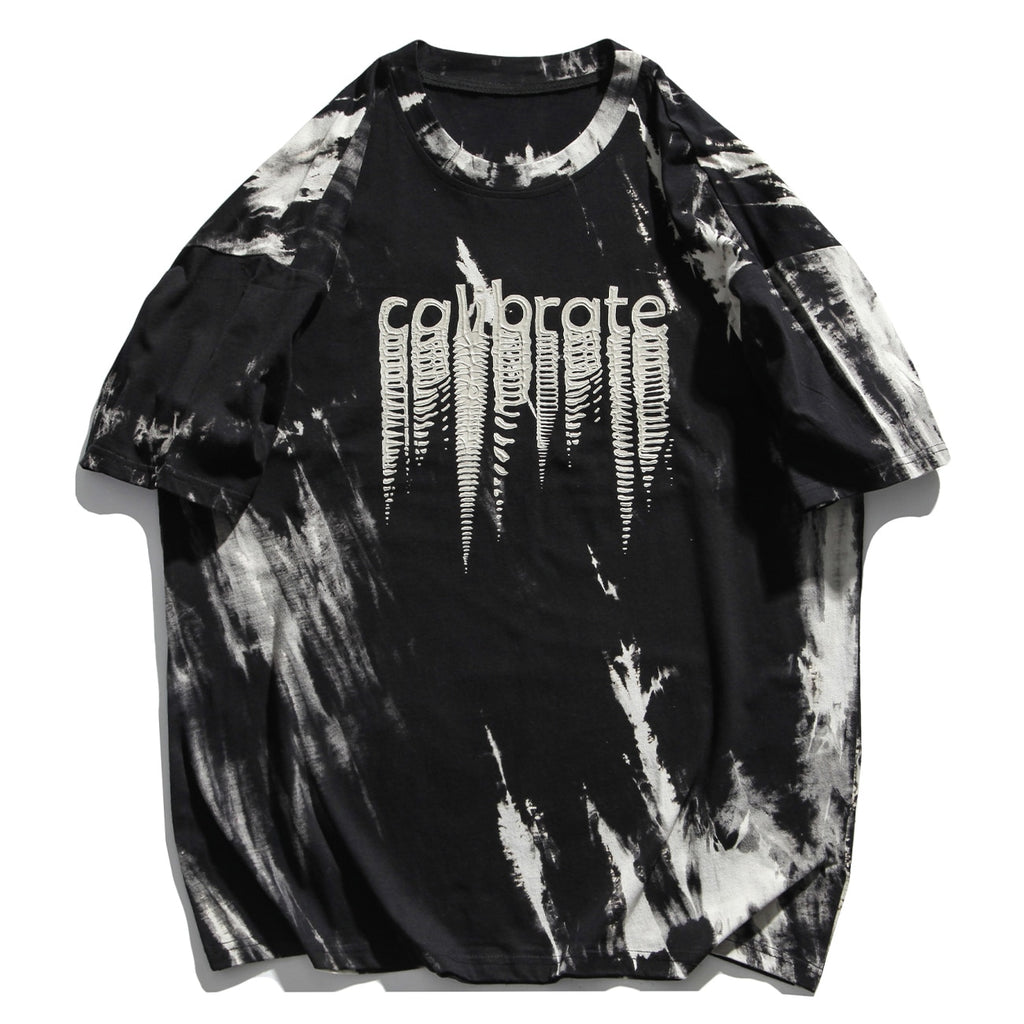 'Calibrate' Illusion Print Tie-Dye T-Shirt