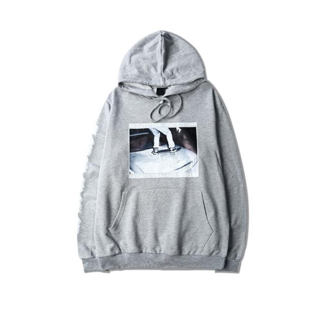 Anti-Systema Graphic Hoodie - CLOUT COLLECTION