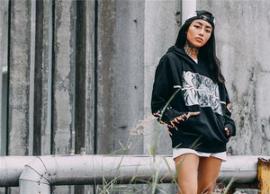 Anime Print Oversized Hoodie - Clout Collection High Fashion Streetwear Men's and Women's