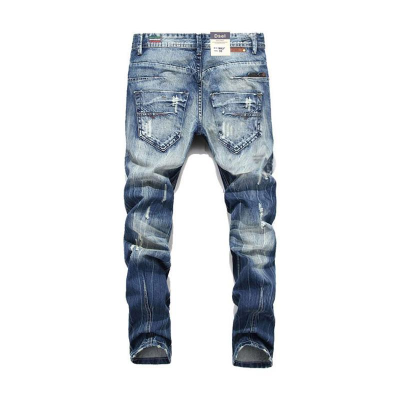 Distressed Acid Wash Jeans Slim Fit - Clout Collection High Fashion Streetwear Men's and Women's
