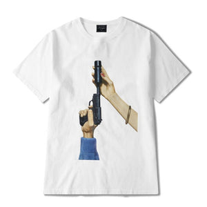 Silencer Graphic T-Shirt in Black or White - Clout Collection High Fashion Streetwear Men's and Women's