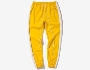 Exclusive Suede Side Striped Jogger - Clout Collection High Fashion Streetwear Men's and Women's