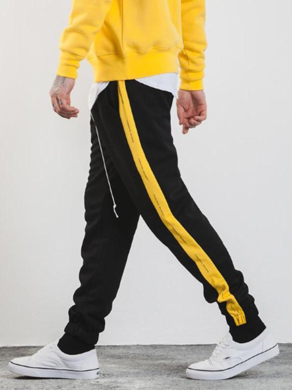 Exclusive Suede Side Striped Jogger - CLOUT COLLECTION