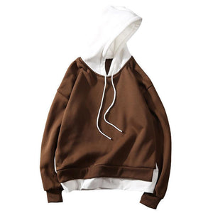 Two-Tone Basic Pullover Hoodie - Clout Collection High Fashion Streetwear Men's and Women's