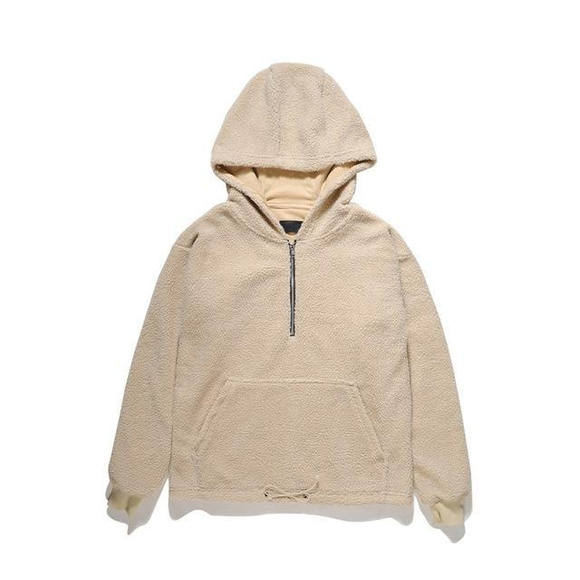 Front Zipper Hooded Sherpa - CLOUT COLLECTION