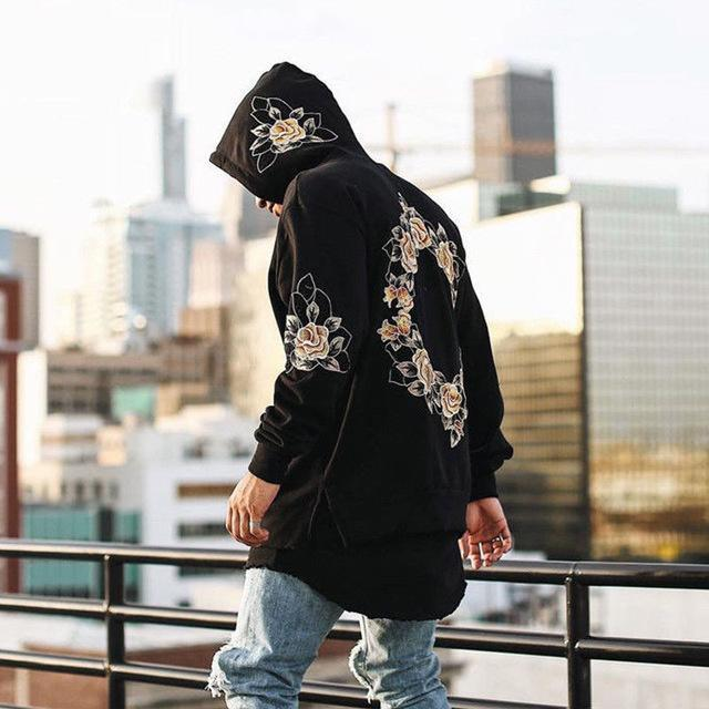 Spring Floral Long Sleeve Hoodie - Clout Collection High Fashion Streetwear Men's and Women's