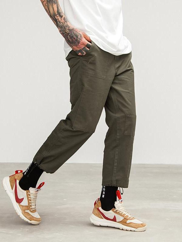 Casual Cotton Trousers - CLOUT COLLECTION