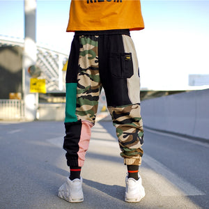 Jogger Sweats in Patchwork Camo - Clout Collection High Fashion Streetwear Men's and Women's
