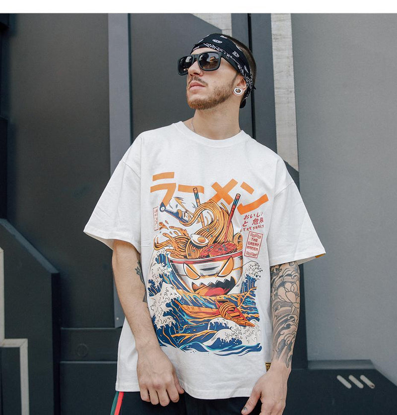 Aggressive Ramen Graphic T-Shirt - Clout Collection High Fashion Streetwear Men's and Women's