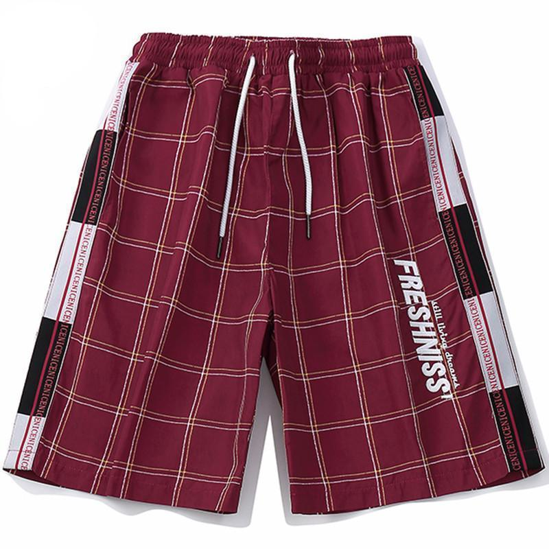 Fresh'Niss Summer Plaid Shorts - Clout Collection High Fashion Streetwear Men's and Women's