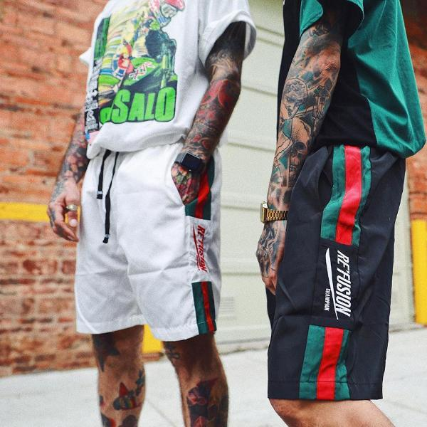 Re'Fusion Embroidered Summer Shorts - CLOUT COLLECTION