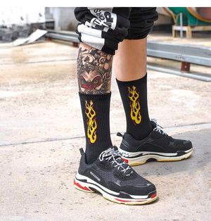 Original Flame Crew Socks - Clout Collection High Fashion Streetwear Men's and Women's