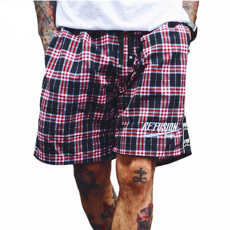 Re'Fusion Plaid Bermuda Shorts - CLOUT COLLECTION
