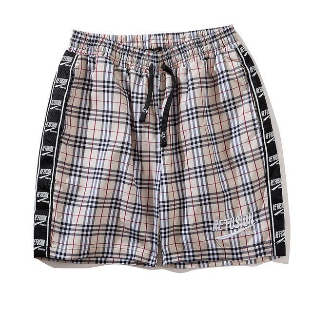 Re'Fusion Plaid Bermuda Shorts - Clout Collection High Fashion Streetwear Men's and Women's