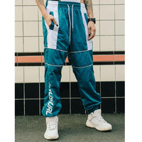 Unusual Original Linear Logo Track Pants - Clout Collection High Fashion Streetwear Men's and Women's