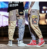 Mixed Camo Patchwork Joggers - Clout Collection High Fashion Streetwear Men's and Women's