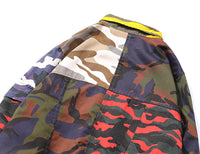 Patchwork Camo Button Up Shirt - CLOUT COLLECTION