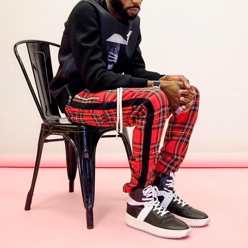 Polo Plaid Joggers with Side Stripe - Clout Collection High Fashion Streetwear Men's and Women's