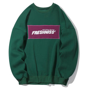 Fresh'Niss Casual Crewneck Sweater - Clout Collection High Fashion Streetwear Men's and Women's