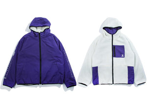 Vamtac Reversible Fleece Zip-Up Jacket - CLOUT COLLECTION