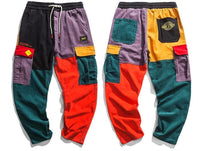 Retro Clout Corduroy Cargo Joggers - Clout Collection High Fashion Streetwear Men's and Women's