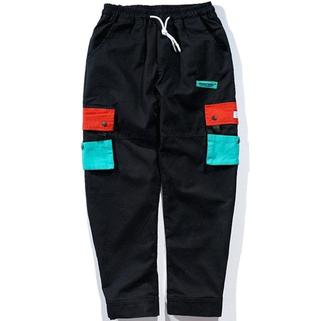 Multi-color Side Pocket Cargo Joggers - Clout Collection High Fashion Streetwear Men's and Women's