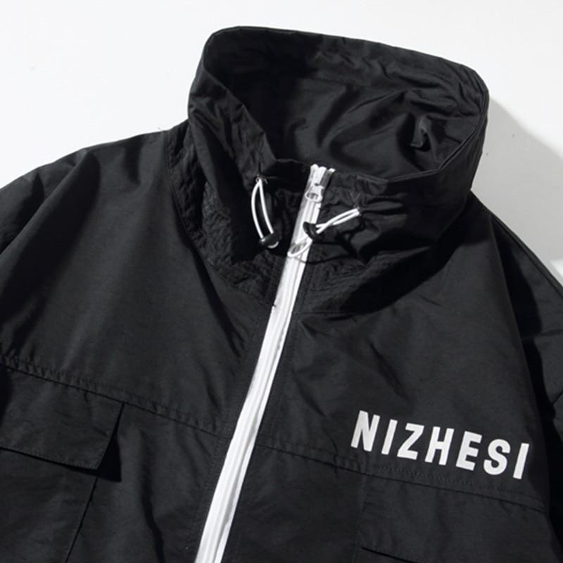 NIZHESI Half-Zip Windbreaker - Clout Collection High Fashion Streetwear Men's and Women's