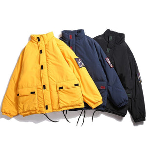 Retro Clout Parka with Removeable Patch - Clout Collection High Fashion Streetwear Men's and Women's