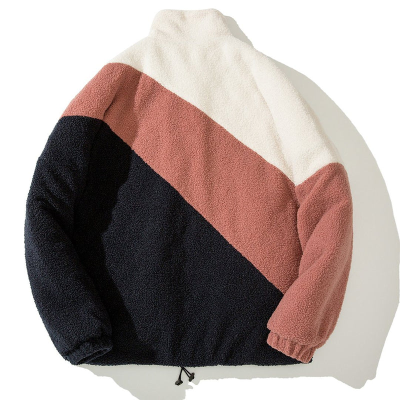 bAAPOM Cashmere Casual Zip-Up with Neo Stripes - CLOUT COLLECTION