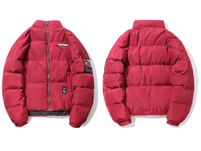 Fresh'Niss Down Puffer with Sensual Side Patch - Clout Collection High Fashion Streetwear Men's and Women's