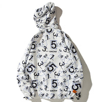Number Theory Graphic Windbreaker - Clout Collection High Fashion Streetwear Men's and Women's