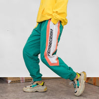 Carhell Pastel Joggers with Logo Print - Clout Collection High Fashion Streetwear Men's and Women's
