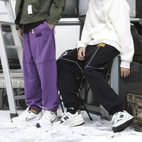 Fleece Sweatpants with Cross Section Design - Clout Collection High Fashion Streetwear Men's and Women's