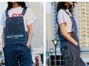 Extreme Aesthetic Denim Overalls - CLOUT COLLECTION